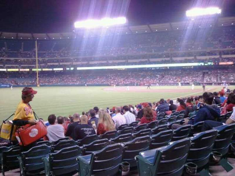 Seating view for Angel Stadium Section F103 Row R Seat 21