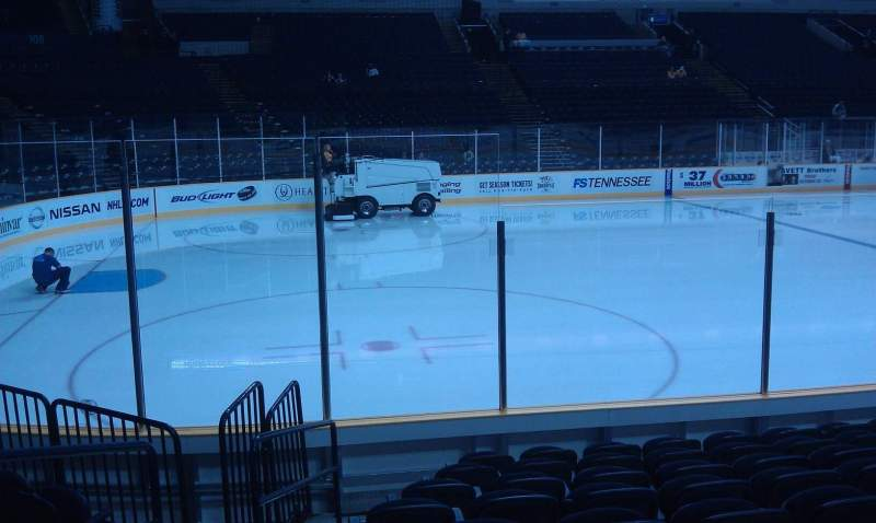 Seating view for Bridgestone Arena Section 114 Row JJ Seat 20