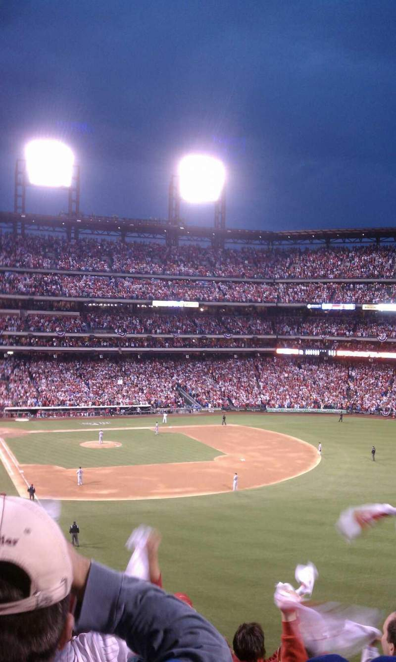Seating view for Citizens Bank Park Section 206 Row 8 Seat 18