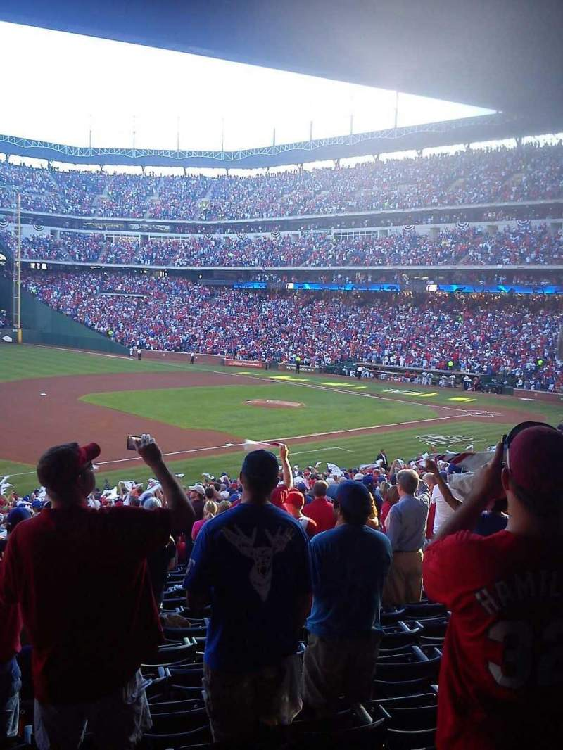 Seating view for Globe Life Park in Arlington Section 116 Row 33 Seat 13