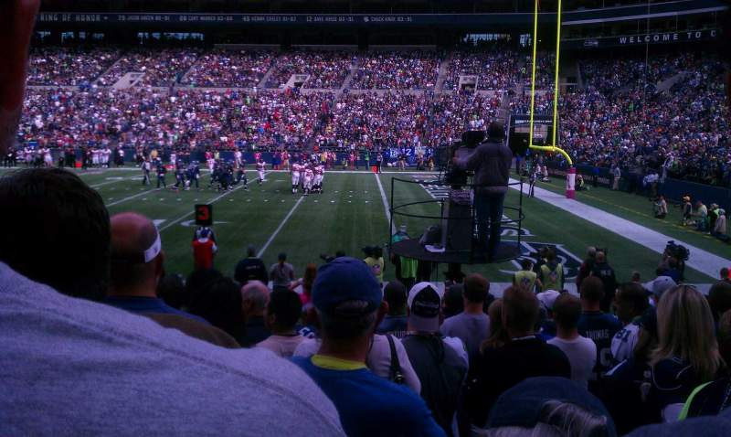 Seating view for CenturyLink Field Section 131 Row J Seat 16