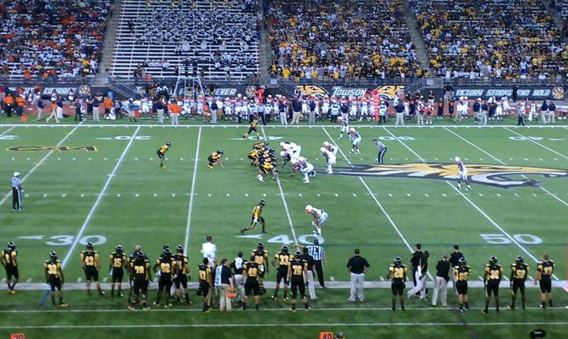 Seating view for Johnny Unitas Stadium Section 112