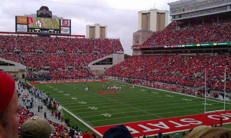 Seating view for Ohio Stadium Section 8A Row 30 Seat 17