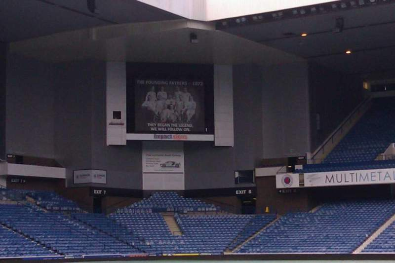 Seating view for Ibrox Stadium Section tunnel