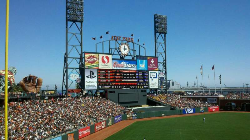 Seating view for AT&T Park Section 229 Row g Seat 3