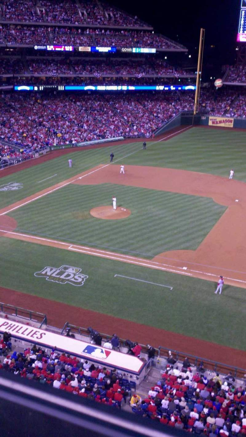 Citizens Bank Park, section 314, row 1, seat 8 ...
