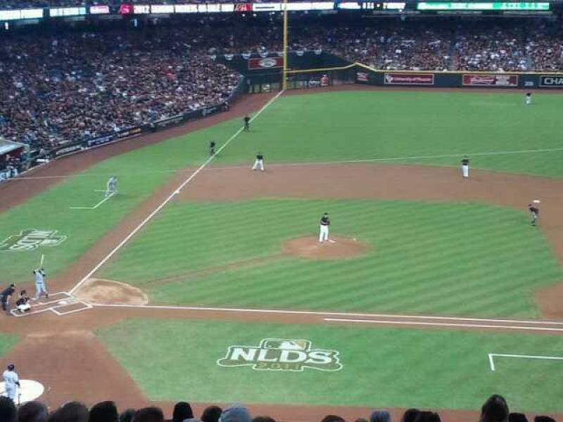 Seating view for Chase Field Section 209 Row 11 Seat 6