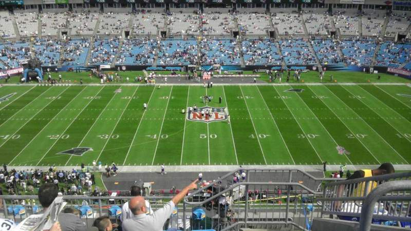 Seating view for Bank of America Stadium Section 542 Row 6 Seat 6