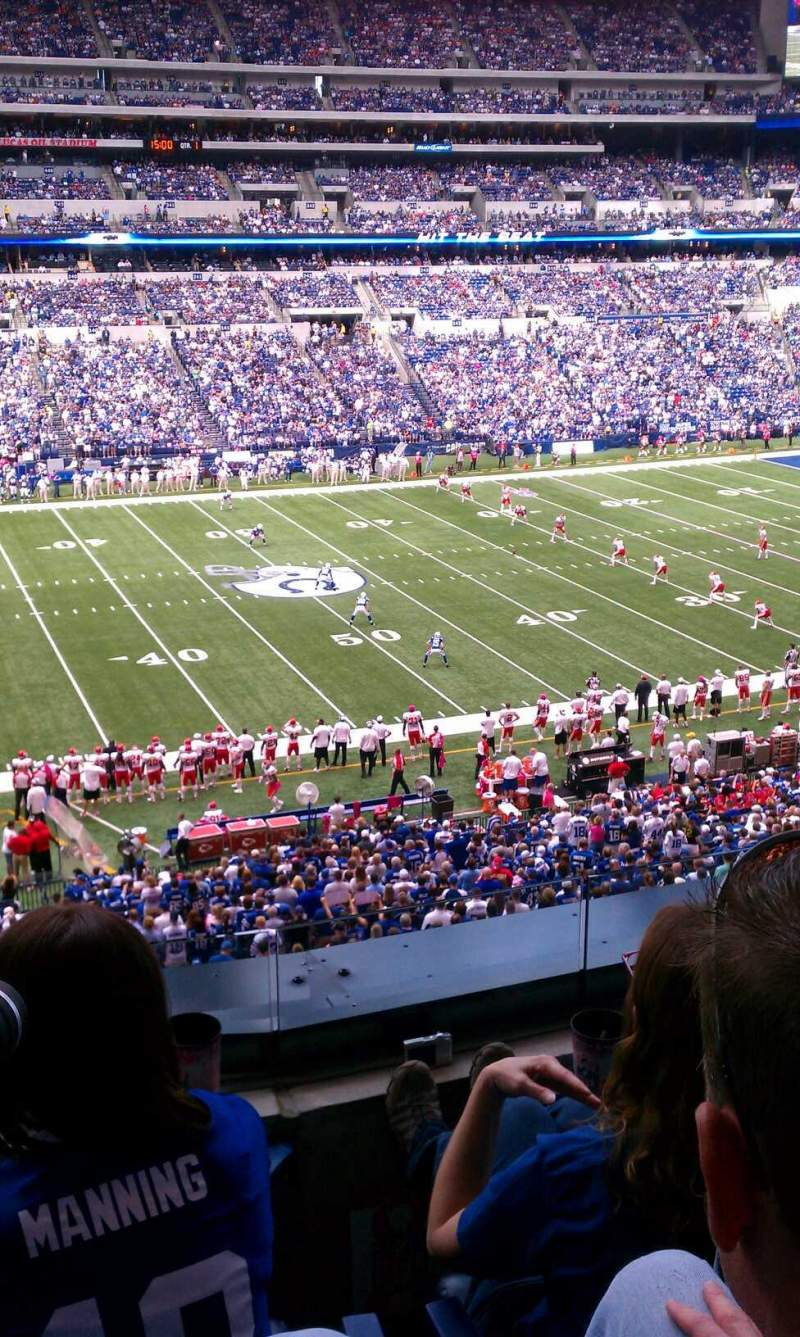 Seating view for Lucas Oil Stadium Section 315 Row 3 Seat 8