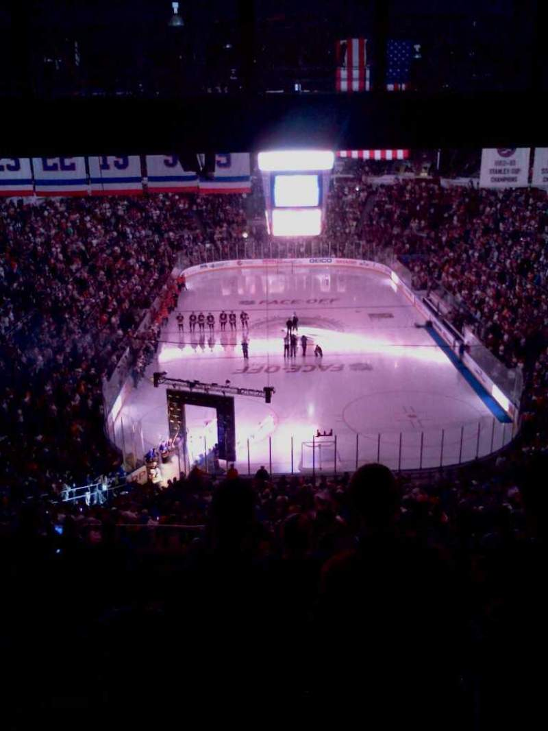 Seating view for Nassau Veterans Memorial Coliseum Section 333 Row p Seat 14