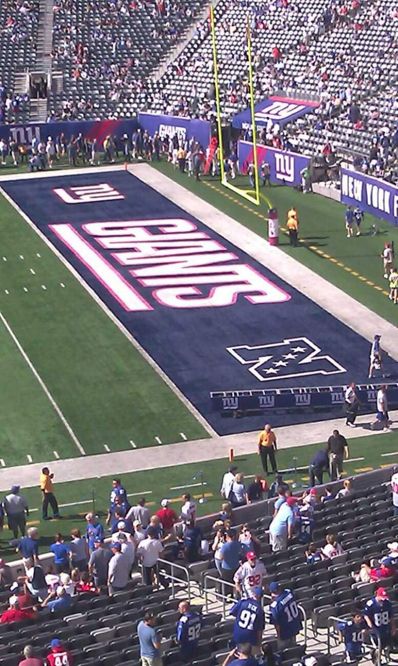 Seating view for MetLife Stadium Section 211 Row 2 Seat 4