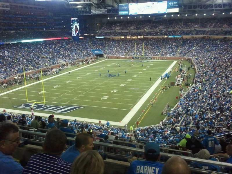 Seating view for Ford Field Section 321 Row 4