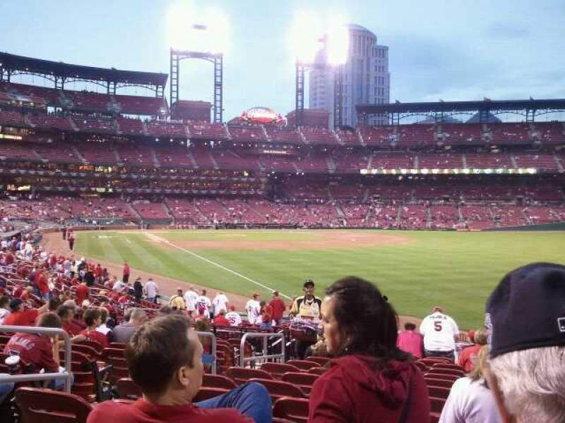 Seating view for Busch Stadium Section Dugout Box 132 Row K Seat 5