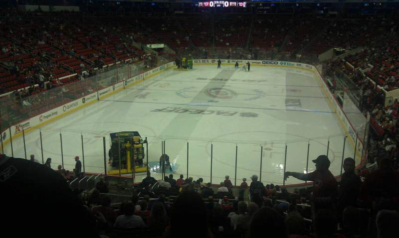 Seating view for PNC Arena Section 111 Row vv Seat 4