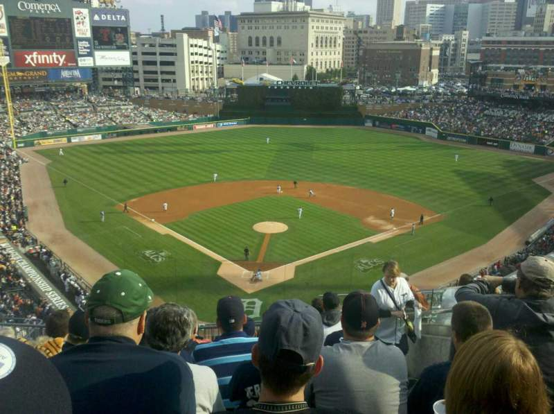 Seating view for Comerica Park Section 327 Row 9 Seat 7