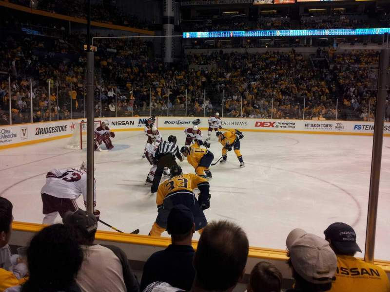 Seating view for Bridgestone Arena Section 114 Row Dd Seat 13