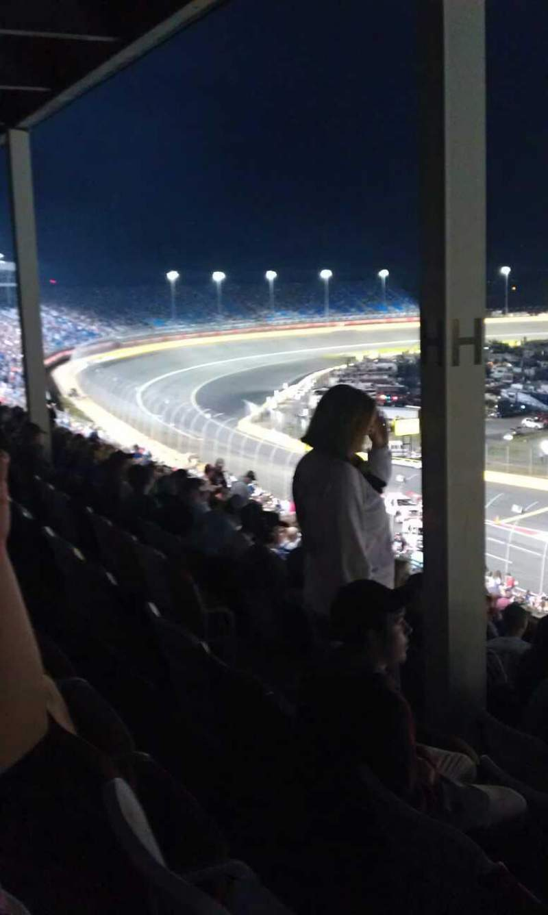 Seating view for Charlotte Motor Speedway Section chrysler Row h49 Seat 9