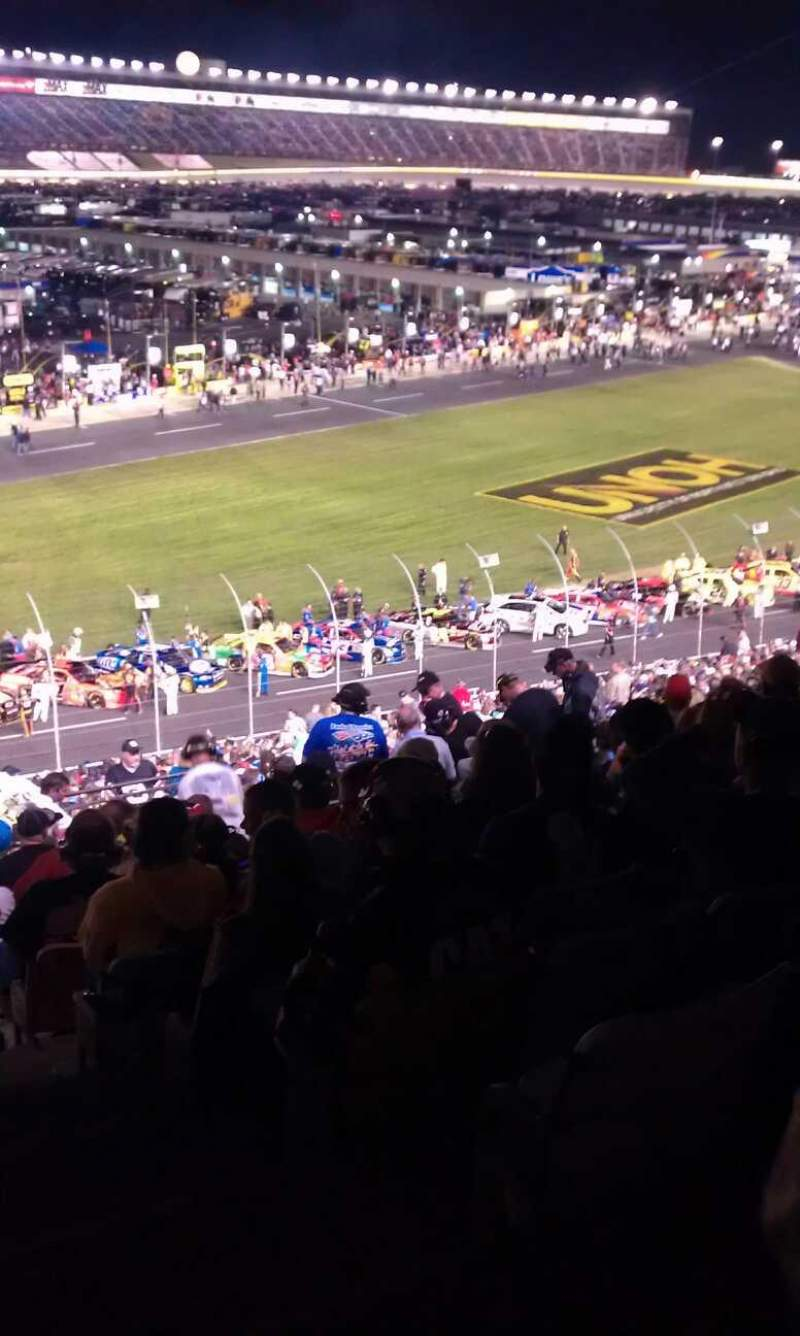 Seating view for Charlotte Motor Speedway Section Chry h Row 49 Seat 9