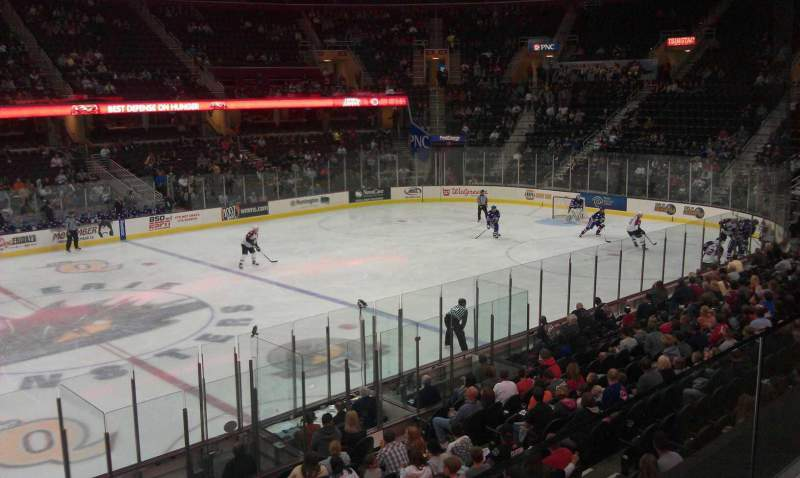 Seating view for Rocket Mortgage FieldHouse Section C121 Row 1 Seat 14