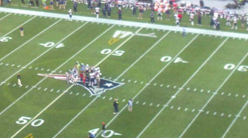 Seating view for Gillette Stadium Section 328 Row 20 Seat 7