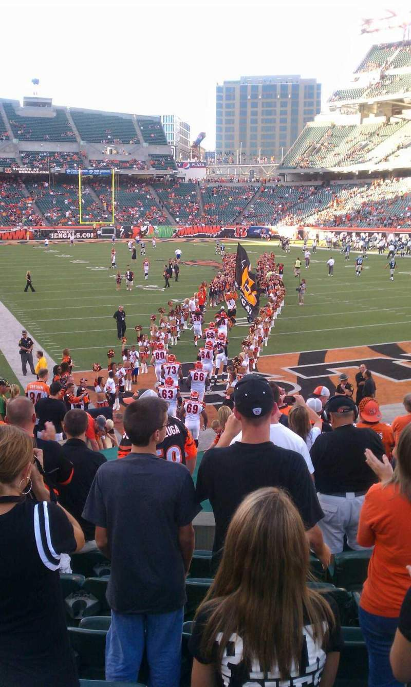 Seating view for Paul Brown Stadium Section end zone Row front Seat 1-15