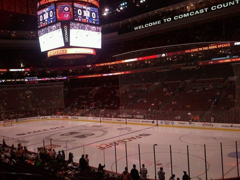 Seating view for Wells Fargo Center Section 104 Row 21 Seat 11