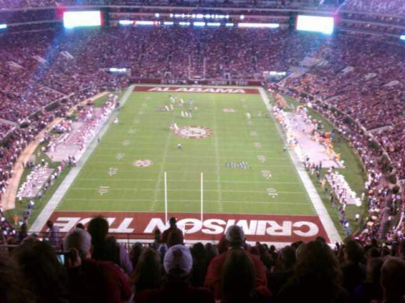 Seating view for Bryant-Denny Stadium Section SS-7 Row 19 Seat 21