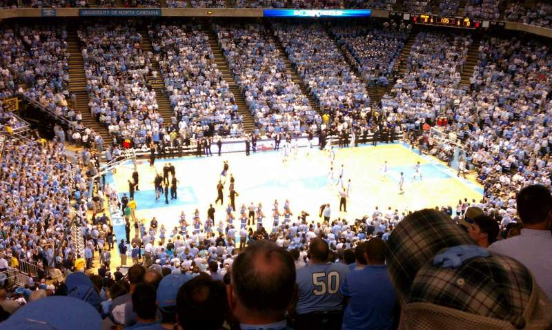 Seating view for Dean E. Smith Center Section 223 Row O Seat 1