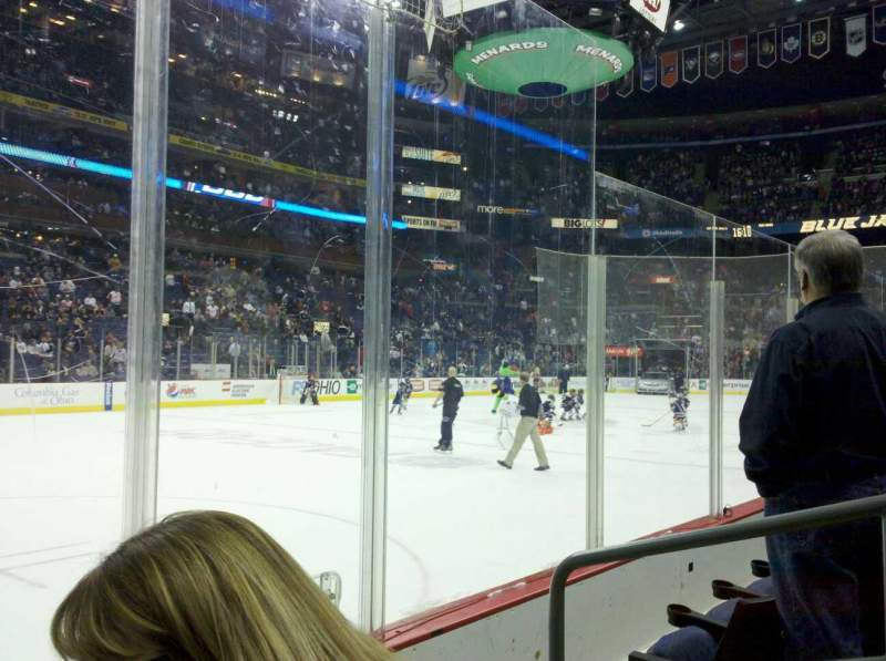 Seating view for Nationwide Arena Section 106 Row C Seat 3