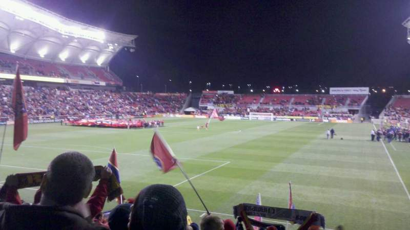 Seating view for Rio Tinto Stadium Section 26 Row N Seat 11
