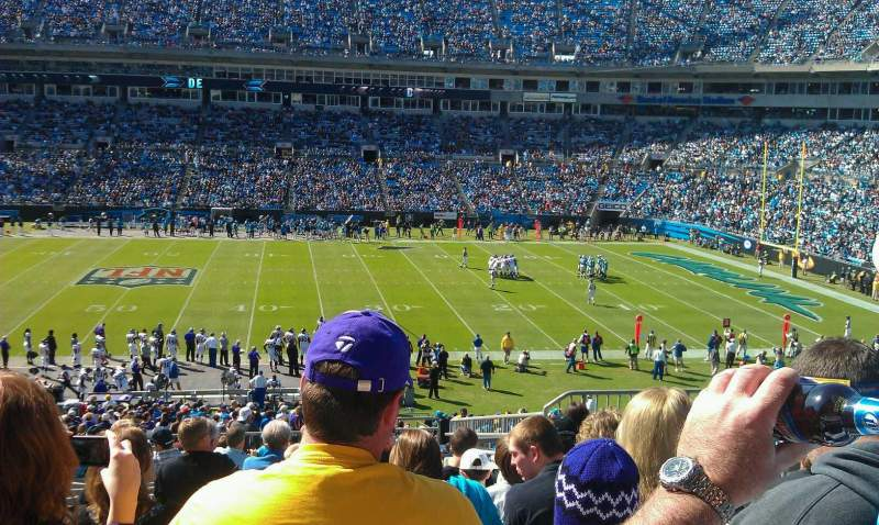 Seating view for Bank of America Stadium Section 314 Row 14 Seat 5