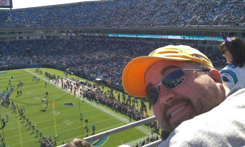Seating view for Bank of America Stadium Section 502 Row 1B Seat 9