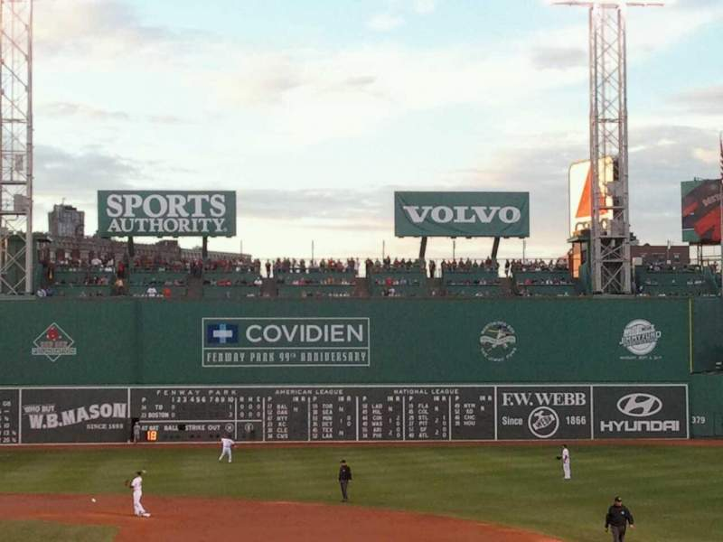 Seating view for Fenway Park Section Grandstand 15 Row 2 Seat 5