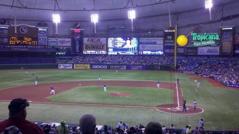 Seating view for Tropicana Field Section 109 Row AA Seat 3