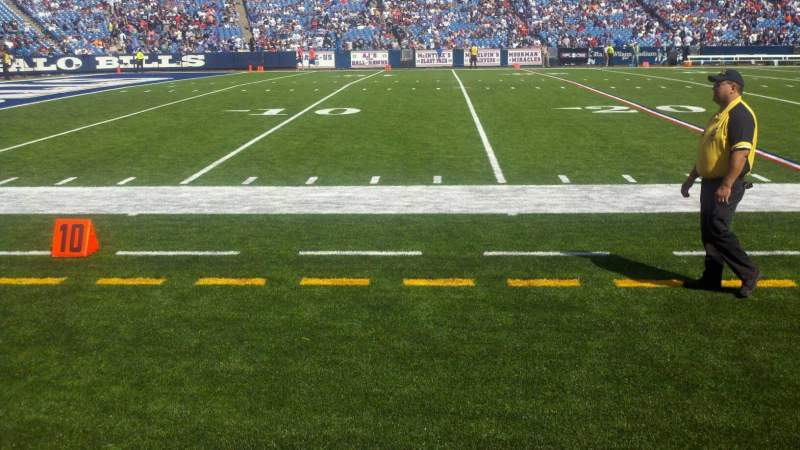 Seating view for Buffalo Bills Stadium Section 136 Row 1 Seat 23