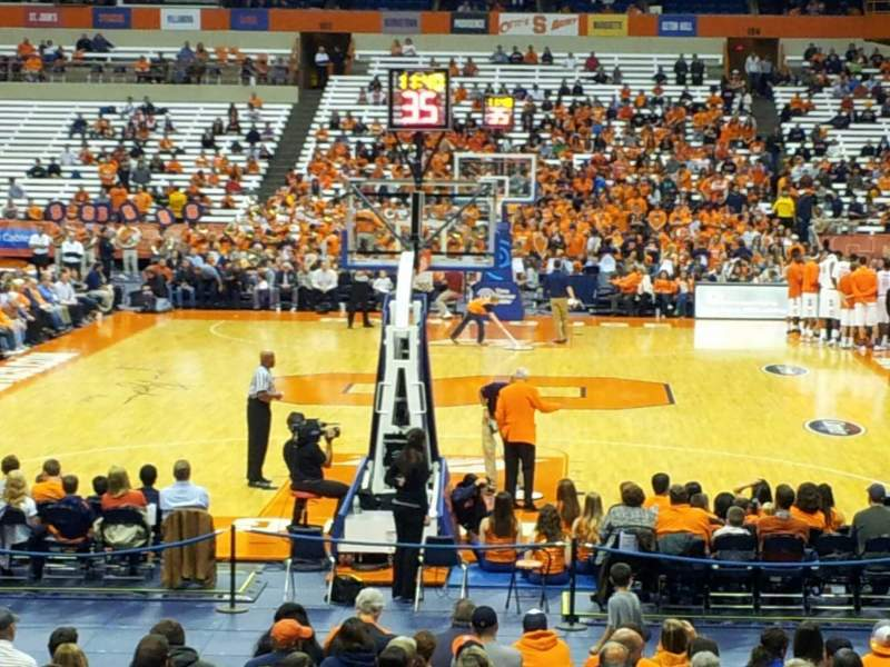 Seating view for Carrier Dome Section 113 Row n Seat 16