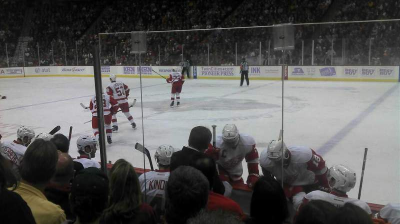 Seating view for Xcel Energy Center Section 116 Row 6 Seat 1