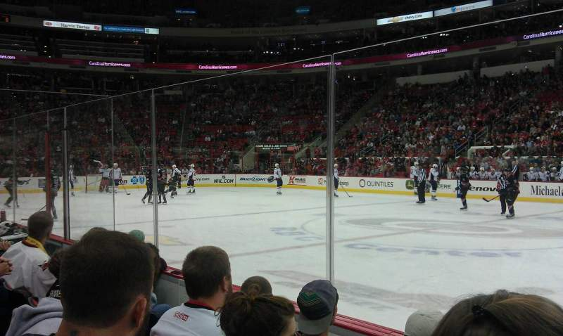 Seating view for PNC Arena Section 118 Row D Seat 3