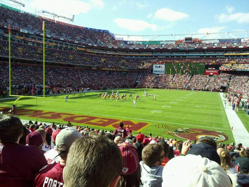 Seating view for FedEx Field Section 130 Row 18 Seat 16