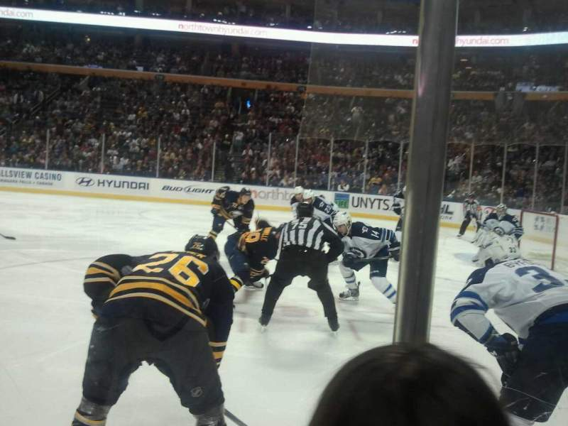 Seating view for KeyBank Center Section 103 Row 2