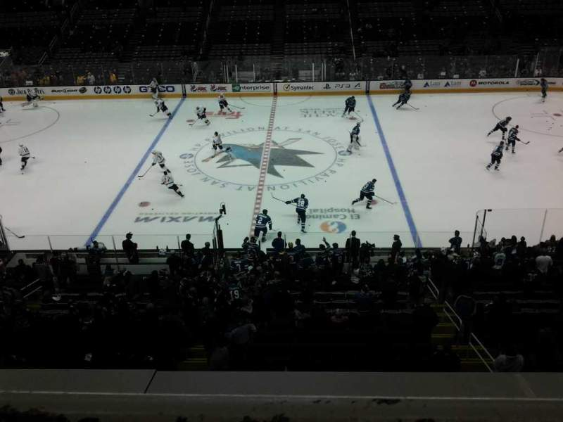 Seating view for SAP Center Section 201 Row 1 Seat 7