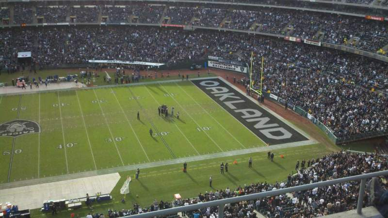 Seating view for Oakland Coliseum Section 344 Row 4 Seat 1
