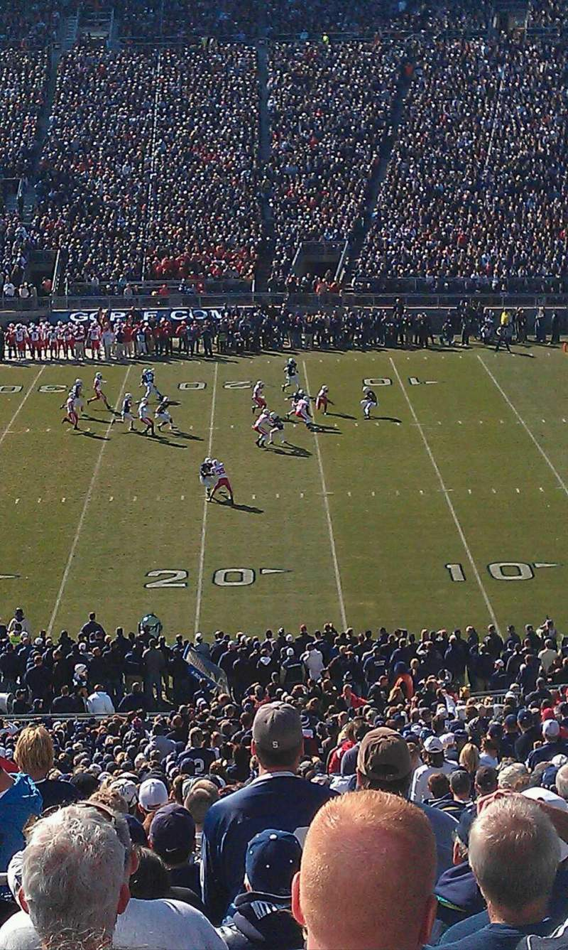 Seating view for Beaver Stadium Section ECU Row 55 Seat 6