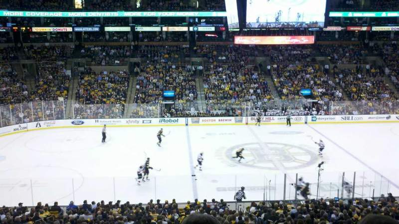 Seating view for TD Garden Section S13 Row 5 Seat 1