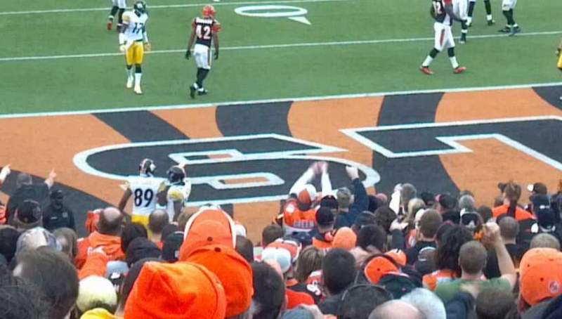 Seating view for Paul Brown Stadium Section 160 Row 35 Seat 8