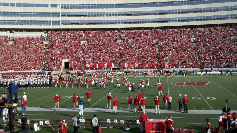 Seating view for Camp Randall Stadium Section E Row 21 Seat 5