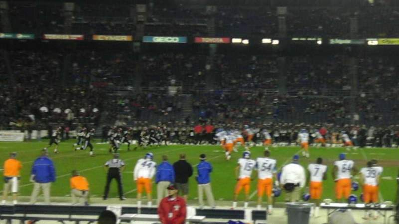 Seating view for Qualcomm Stadium Section F5 Row 11 Seat 17