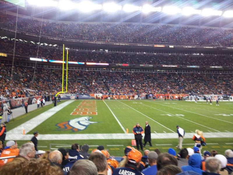 Seating view for Sports Authority Field at Mile High Section 109 Row 9 Seat 12