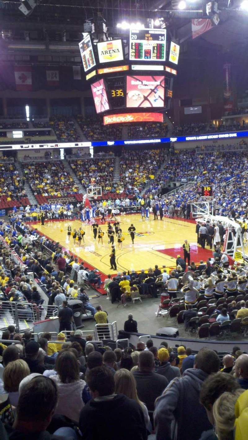 Seating view for Wells Fargo Arena Section 112 Row U Seat 27
