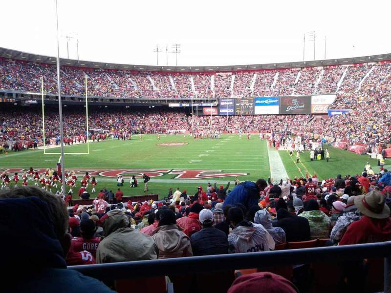 Seating view for Candlestick Park Section LR 11 Row 2 Seat 16